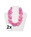 2x hawaii slinger roze paars