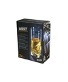 2x hoge luxe whiskey glazen 300 ml