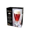 2x speciaal bier glazen voetglazen 320 ml