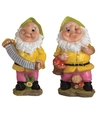 2x tuinkabouters 25 cm groen