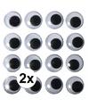 2x zelfklevende wiebel oogjes 15 mm