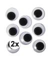 2x zelfklevende wiebel oogjes 20 mm