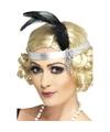 2x zilveren jaren 20 hoofdbanden