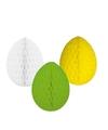3 decoratie paaseieren pakket paaskleuren 20 cm