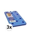 3 platte koelbox koelelementen blauw