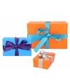 3 x gekleurde cadeaudoosjes 10 15 21 cm met gekleurde strik