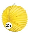 30x lampionnen geel 22 cm