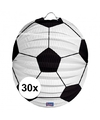 30x voetbal lampionnen 22 cm