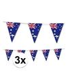 3x australie vlaggenlijn 3 5 meter