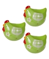 3x eierdop kip groen 8 cm