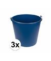 3x emmers blauw 12l