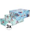 3x frozen inpakpapier 200 x 70 cm