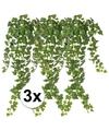 3x groene klimop takken kunstplanten 65 cm