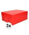 3x kadopapier rood 200 x 70 cm op rol
