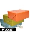 3x kraft inpakpapier met rolletje plakband pakket 2