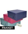 3x kraft inpakpapier met rolletje plakband pakket 3