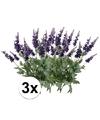 3x lavendel kunstbloemen tak 45 cm