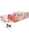 3x minnie mouse inpakpapier 200 x 70 cm