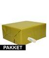 3x mosgroen kraft inpakpapier met rolletje plakband pakket 13