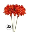 3x oranje gerbera kunstbloemen 47 cm
