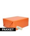 3x oranje kraft inpakpapier met rolletje plakband pakket 5