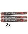 3x pakje wierook stokjes wild cherry