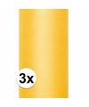 3x rollen tule stof geel 0 15 x 9 meter