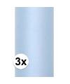 3x rollen tule stof lichtblauw 0 15 x 9 meter