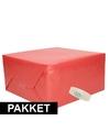 3x rood kraft inpakpapier met rolletje plakband pakket 12