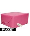 3x roze kraft inpakpapier met rolletje plakband pakket 11