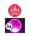 3x roze pretty pink circus buttons met licht