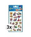 3x schildpad stickers 2 vellen