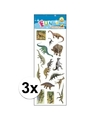 3x stickervel dinosaurus