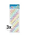 3x stickervel letters en cijfers