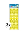 3x stickervel smiley face