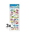 3x stickervel verkeer type 2