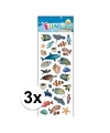 3x stickervel zeedieren