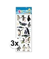 3x stickervellen pinguins
