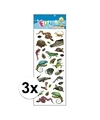 3x stickervellen reptielen
