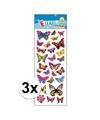3x stickervellen vlinders
