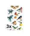 3x vogel stickers 3 vellen