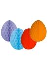 4 decoratie paaseieren pakket gekleurd 20 cm