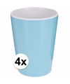 4 kinderbekers melamine blauw 600 ml