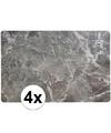 4 x placemat marmer grijs 43 x 28 cm