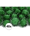 40x donkergroene knutsel pompons 20 mm