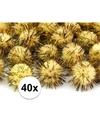 40x gele knutsel pompons 20 mm