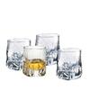 4x bijzondere whiskey glazen 330 ml