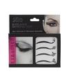 4x eyeliner decoratie stickers