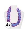 4x hawaii slinger paars blauw
