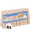 4x houten wasknijpers 36 stuks